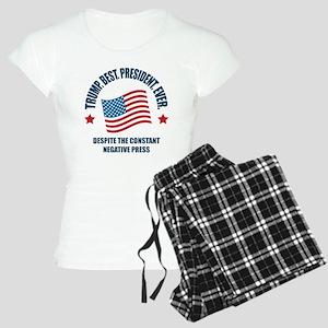 Trump Best Pres Women's Light Pajamas