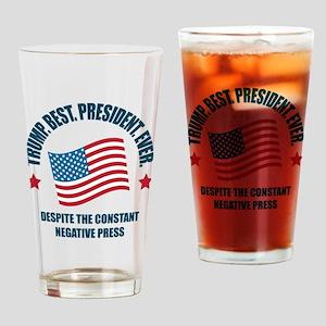 Trump Best Pres Drinking Glass