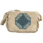 Celtic Diamond Aqua Messenger Bag
