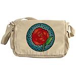 Celtic Rose Stained Glass Messenger Bag