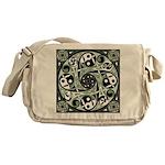 Celtic Spiral Stepping Stone Messenger Bag
