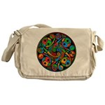 Celtic Stained Glass Spiral Messenger Bag