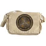 Bejeweled Celtic Shield Messenger Bag