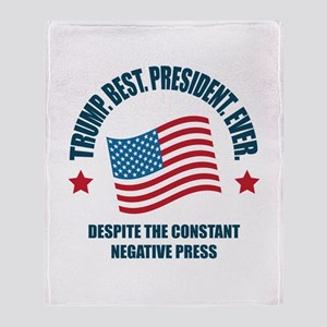 Trump Best Pres Throw Blanket