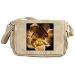White Carnation Messenger Bag