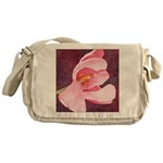 Pink Tulip Messenger Bag
