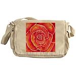Red-Orange Rose Messenger Bag