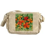 Tropical Flowers Messenger Bag