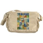 Slated Watercolor Messenger Bag