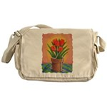 Tulips and Pearls Messenger Bag