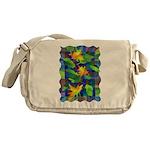 Leaf Mosaic Messenger Bag