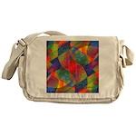 Worlds Abstract Messenger Bag