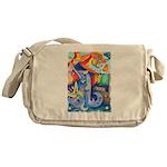 Surreal Seascape Watercolor Messenger Bag