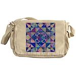 Blue Quilt Watercolor Messenger Bag