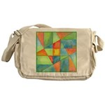 Color Square Abstract 1 Messenger Bag