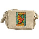 Autumn Quilt Watercolor Messenger Bag
