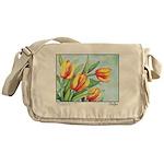 Tulips Watercolor Messenger Bag