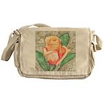 Peach Rose Watercolor Messenger Bag