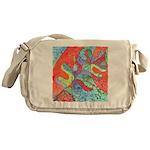 Multicolor Oak Leaf Art Messenger Bag