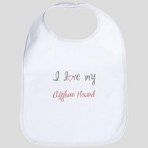 I Love My Afghan Hound Bib