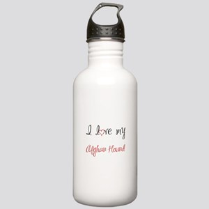 I Love My Afghan Hound Stainless Water Bottle 1.0L