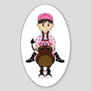 Cute Jockey and Horse Sticker