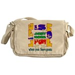 Life is Fun with Goats Messenger Bag