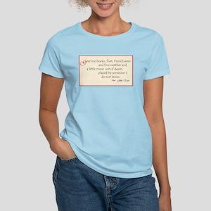 Book & Wine Lover Women's Light T-Shirt
