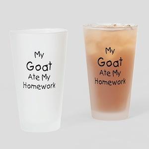 My Goat ate Homework Drinking Glass