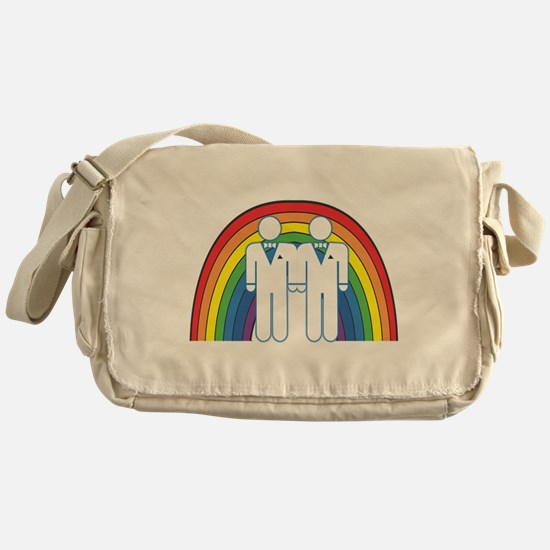 Gay Marriage (Male) Messenger Bag