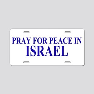 Pray for Israel Aluminum License Plate