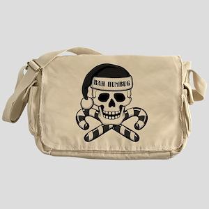 Bah Humbug Skull Messenger Bag