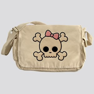 Cute Skull Girl Messenger Bag