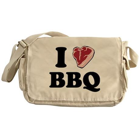 I [heart] BBQ Messenger Bag