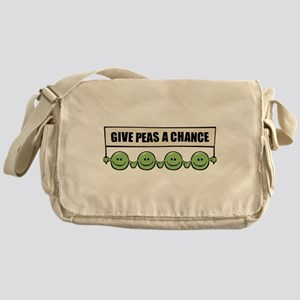 Give Peas A Chance Messenger Bag