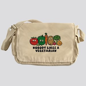 Nobody Likes a Vegetarian Messenger Bag