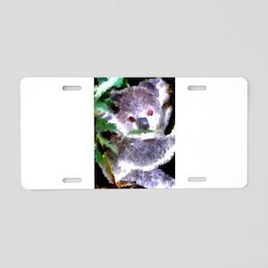 Baby Koala Aluminum License Plate