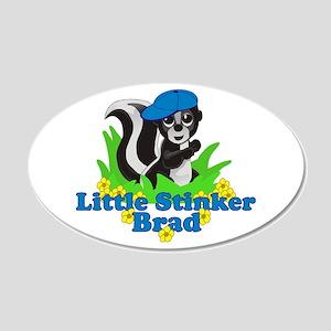 Little Stinker Brad 22x14 Oval Wall Peel