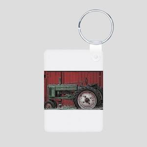 Farm Tractor Aluminum Photo Keychain