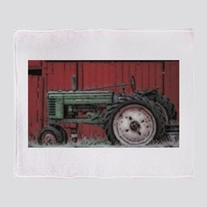 Farm Tractor Throw Blanket