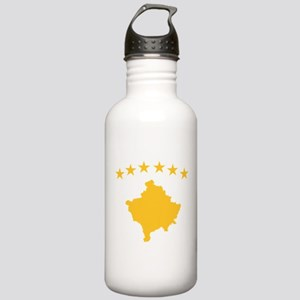 Kosovo Flag Stainless Water Bottle 1.0L