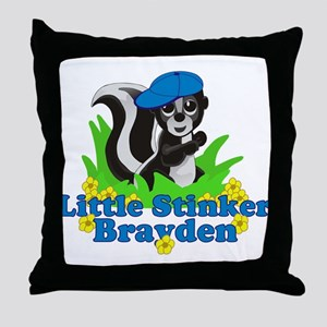 Little Stinker Brayden Throw Pillow