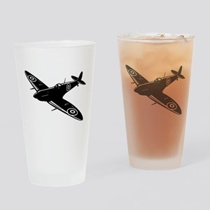 Vintage War Plane Drinking Glass