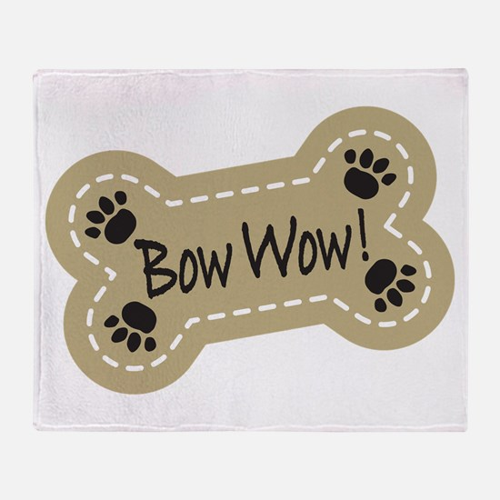 Bow Wow! Throw Blanket