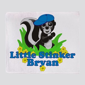 Little Stinker Bryan Throw Blanket