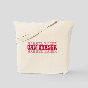 Fun cowgirl Can Chaser Barrel Tote Bag