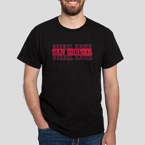 Fun cowgirl Can Chaser Barrel Dark T-Shirt