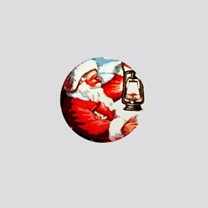 Santa Lantern Mini Button