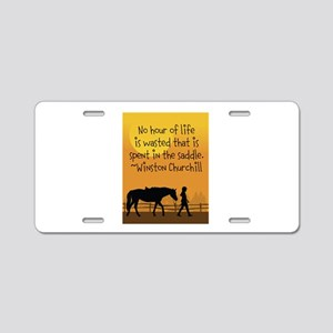 Horse and Child Aluminum License Plate