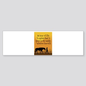 Horse and Child Sticker (Bumper)